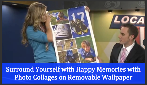 Photo Collages on Removable Wallpaper: A Tool for Happiness