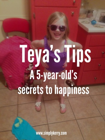 Secret to Happiness: Tips from a 5-year-old