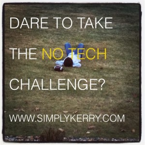 Take the No Technology Challenge!