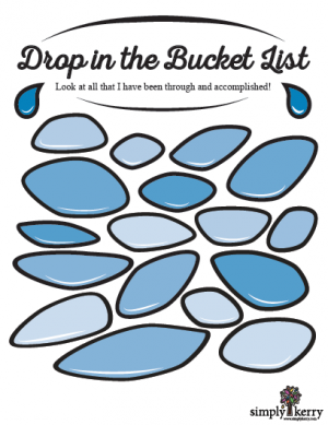 Drop in the Bucket List