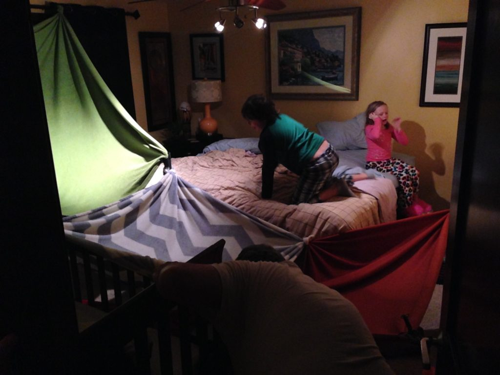 Build an indoor blanket tent